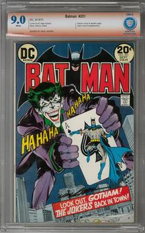 Batman #251 CBCS 9.0 (W) Signed By Neal Adams Signature Verified *0005338-AB-001*