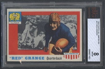 1955 Topps All American Football #27 Red Grange BVG 8 (NM-MT) *7453