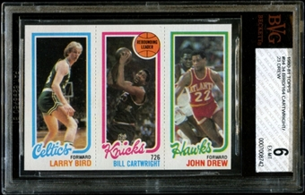1980/81 Topps Basketball Larry Bird Rookie BVG 6 (EX-MT) *8742