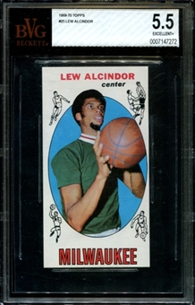 1969/70 Topps Basketball #25 Lew Alcindor Rookie BVG 5.5 (EX+) *7272