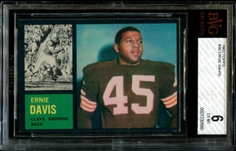 1962 Topps Football #36 Ernie Davis SP Rookie BVG 6 (EX-MT) *0585