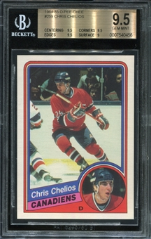 1984/85 O-Pee-Chee Chris Chelios Rookie Card BVG 9.5 *0456
