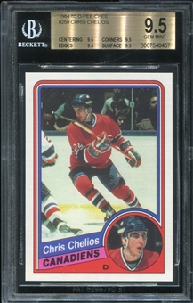 1984/85 O-Pee-Chee Chris Chelios Rookie Card BVG 9.5 *0457
