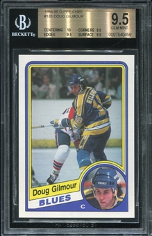 1984/85 O-Pee-Chee Doug Gilmour Rookie Card BVG 9.5 *0459