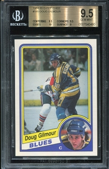 1984/85 O-Pee-Chee Doug Gilmour Rookie Card BVG 9.5 *0460