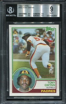 1983 Topps Tony Gwynn Rookie Card BVG 9 *0464