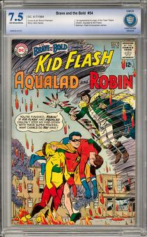 Brave and the Bold #54 CBCS 7.5 (OW-W) *0008638-AA-001*