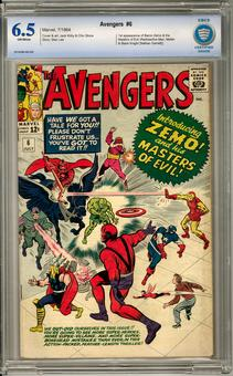 Avengers #6 CBCS 6.5 (OW) *0010498-AB-009*