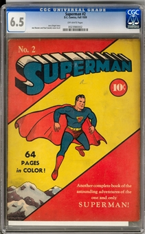 Superman #2 CGC 6.5 (OW) *0023980002*