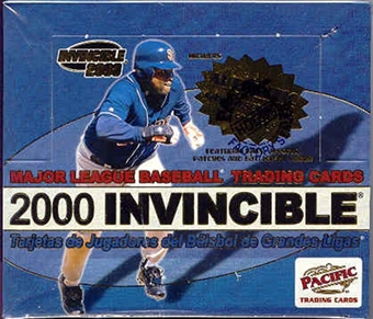 2000 Pacific Invincible Baseball Hobby Box