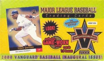 2000 Pacific Vanguard Baseball Hobby Box