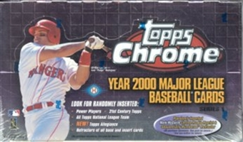 2000 Topps Chrome Series 1 Baseball Hobby Box