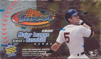 2000 Topps Finest Series 2 Baseball Hobby Box