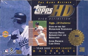 2000 Topps HD High Definition Baseball Hobby Box