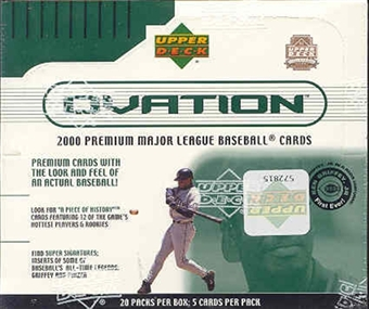 2000 Upper Deck Ovation Baseball Hobby Box