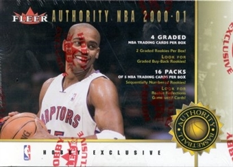 2000/01 Fleer Authority Basketball Hobby Box
