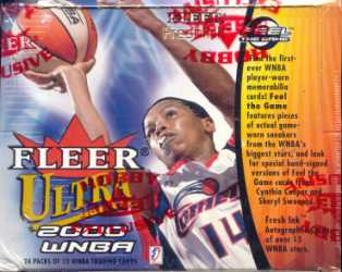 2000 Fleer Ultra WNBA Basketball Hobby Box