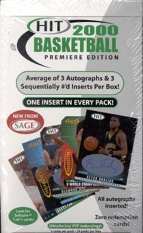 2000/01 Sage Hit Basketball Hobby Box