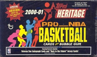 2000/01 Topps Heritage Basketball Hobby Box