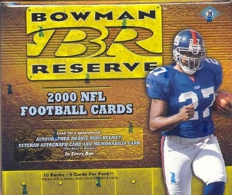 2000 Bowman Reserve Football Hobby Box