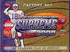 2000 Collector's Edge Supreme Football Factory Set