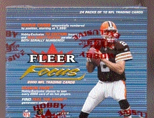 2000 Fleer Focus Football Hobby Box