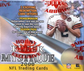 2000 Fleer Mystique Football Hobby Box