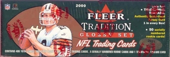 2000 Fleer Tradition Glossy Football Factory Set (Box)