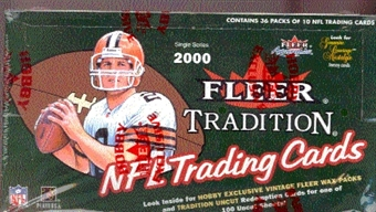 2000 Fleer Tradition Football Hobby Box