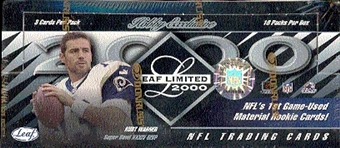2000 Leaf Limited Football Hobby Box