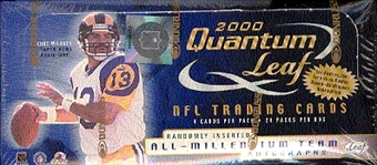 2000 Leaf Quantum Football Hobby Box