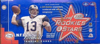 2000 Leaf Rookies & Stars Football Hobby Box