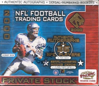 2000 Pacific Private Stock Football Hobby Box