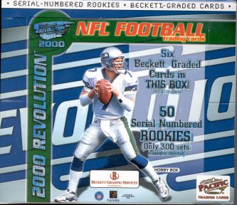 2000 Pacific Revolution Football Hobby Box