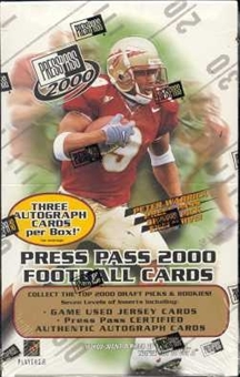 2000 Press Pass Football Hobby Box
