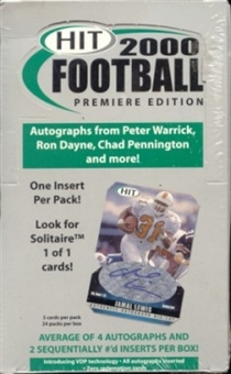 2000 Sage Hit Football Hobby Box