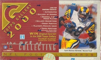 2000 Topps Gallery Football Hobby Box