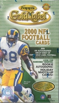 2000 Topps Gold Label Football HTA Box