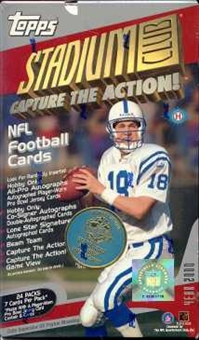 2000 Topps Stadium Club Football Hobby Box