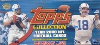 2000 Topps Football Factory Set (Box)