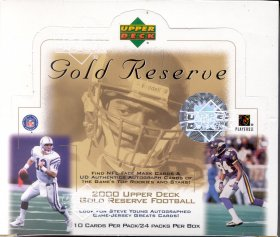 2000 Upper Deck Gold Reserve Football Box
