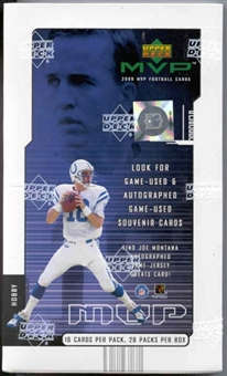 2000 Upper Deck MVP Football Hobby Box