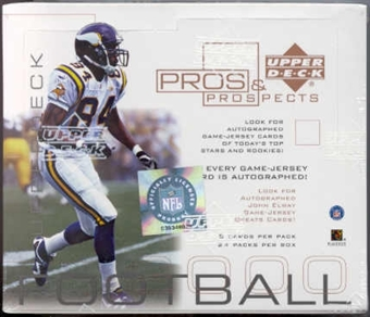 2000 Upper Deck Pros & Prospects Football Hobby Box