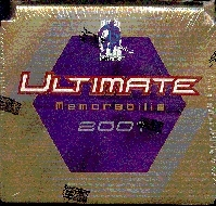 2000/01 Be A Player Ultimate Memorabilia Hockey Hobby Box