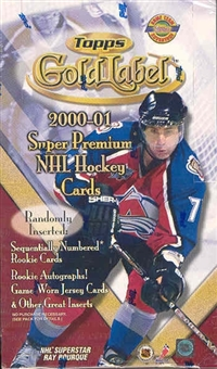 2000/01 Topps Gold Label Hockey Hobby Box
