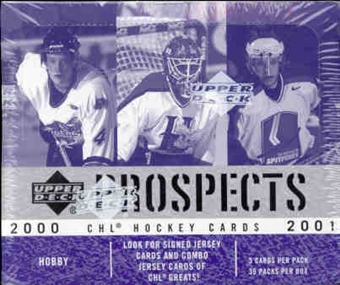 2000/01 Upper Deck CHL Prospects Hockey Hobby Box