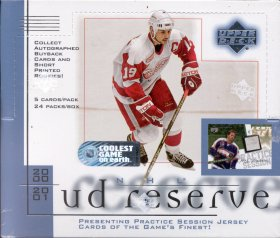 2000/01 Upper Deck Reserve Hockey Hobby Box