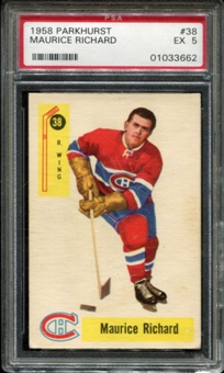 1958/59 Parkhurst Hockey #38 Maurice Richard PSA 5 (EX) *3662