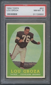 1958 Topps Football #52 Lou Groza PSA 8 (NM-MT) *0850