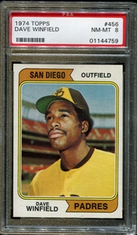 1974 Topps Baseball #456 Dave Winfield Rookie PSA 8 (NM-MT) *4759